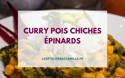 Curry de pois chiches et épinards (recette)